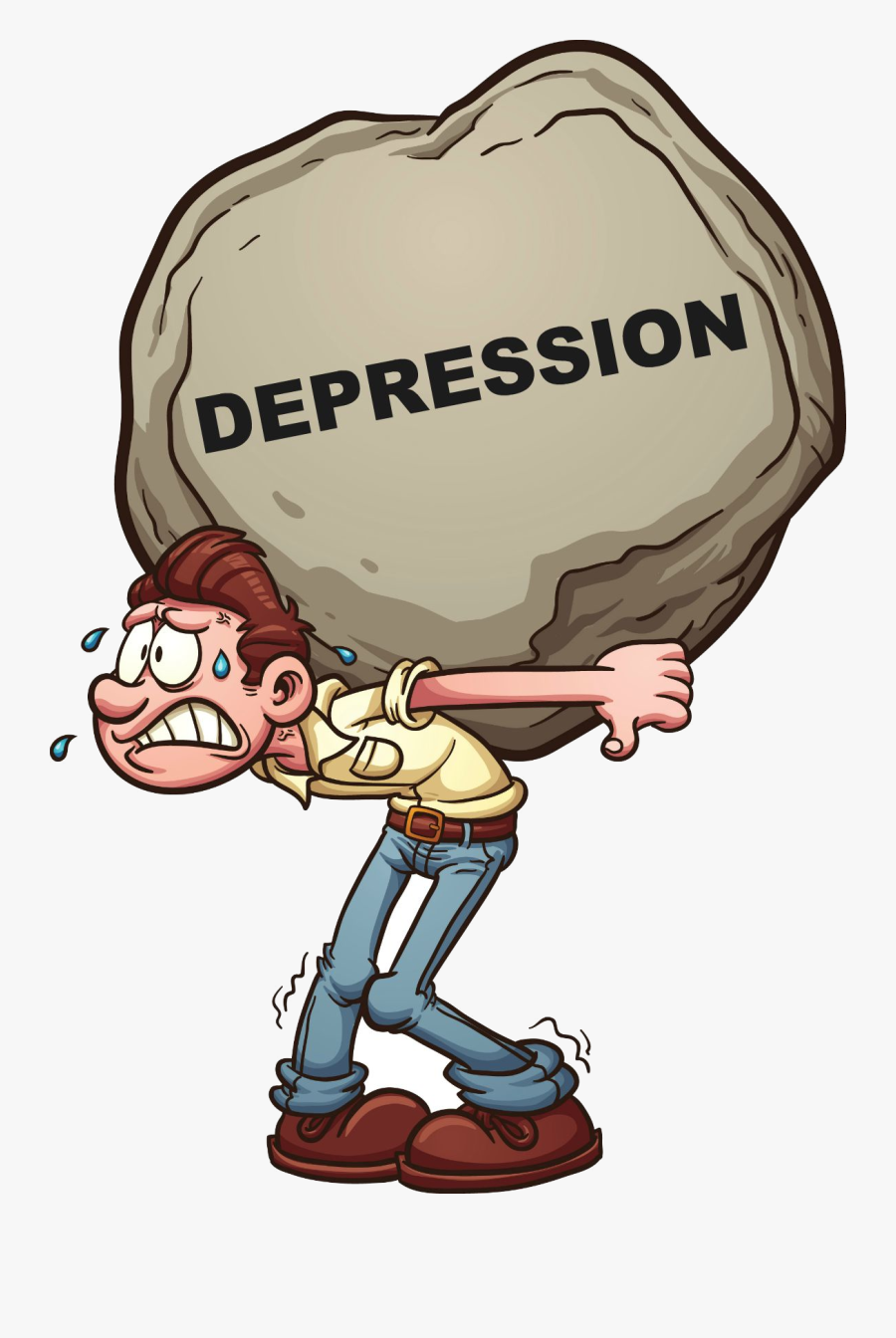 Depression Causes Of Clip Art Clipart Transparent Png - Symptoms Of Depression Cartoon, Transparent Clipart