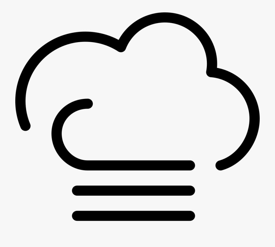 Transparent Windy Clipart - Windy Weather Symbol, Transparent Clipart