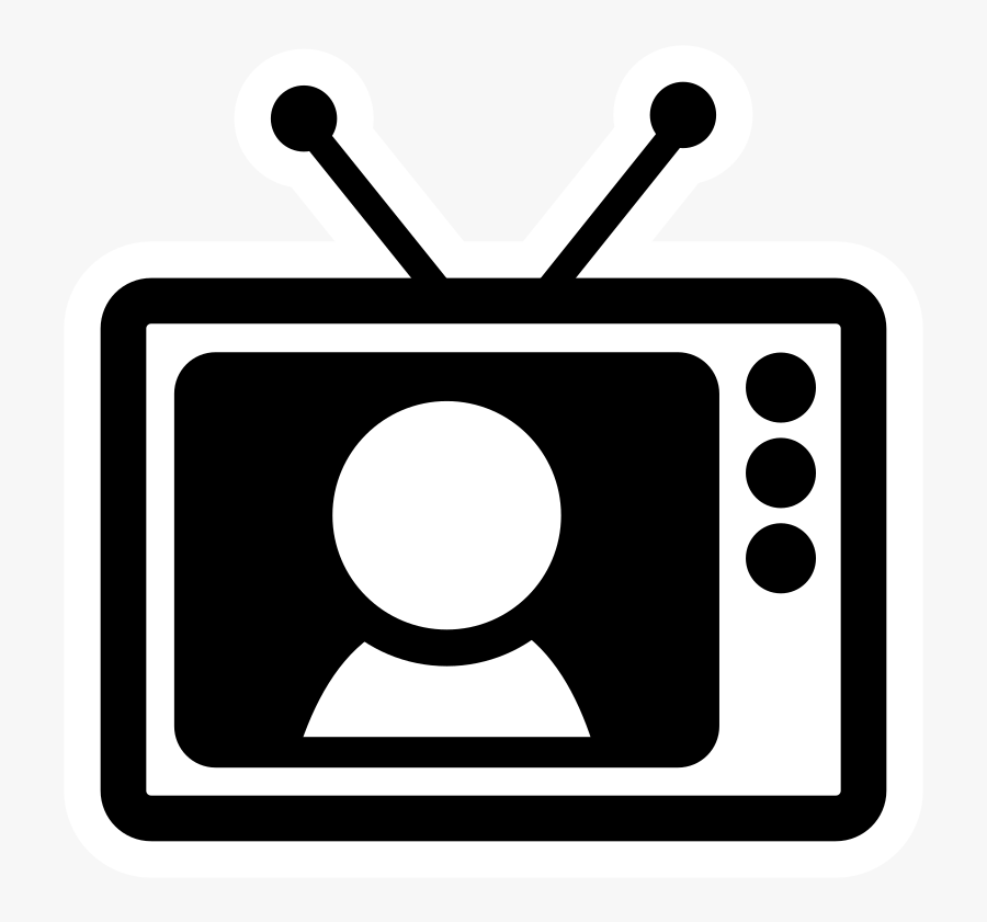 Circle,symbol,television - Black And White Tv Clipart Png, Transparent Clipart