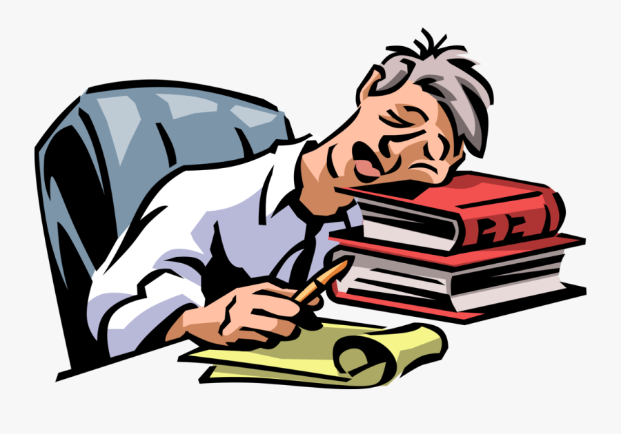 Vector Illustration Of Exhausted, Overworked, Underappreciated - Clipart Exhaustion, Transparent Clipart