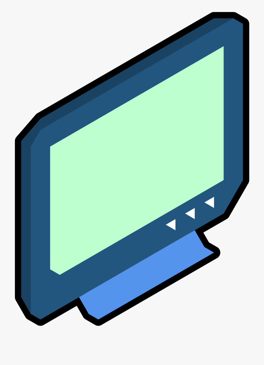 Clipart - Isometric Tv - Tv Png Isometric, Transparent Clipart