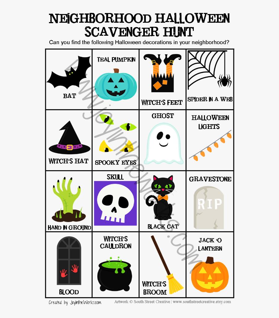 Scavenger Hunt Clipart Spy - Halloween Decoration Scavenger Hunt, Transparent Clipart