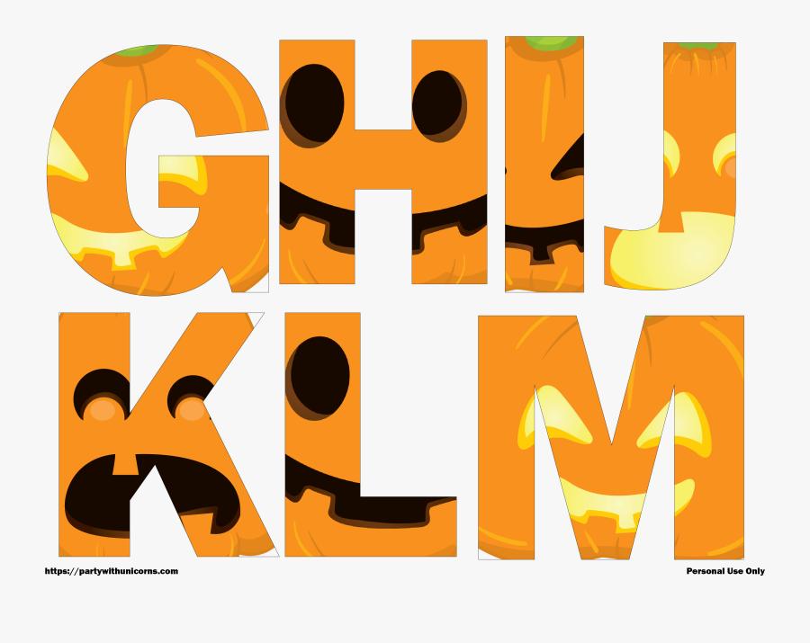 Halloween Letters Printable, Transparent Clipart