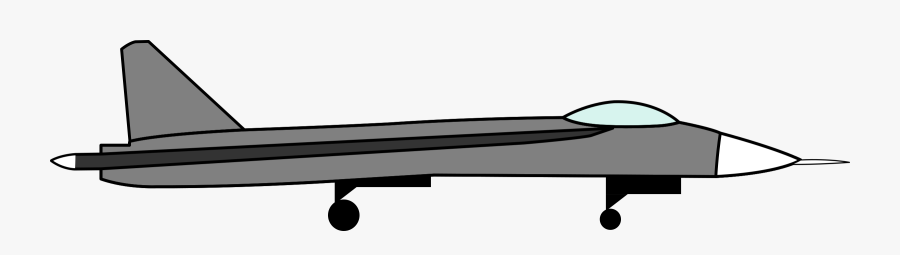 Simple Sukhoi Drawing Clip Arts - Basic Drawing Of A Jet, Transparent Clipart
