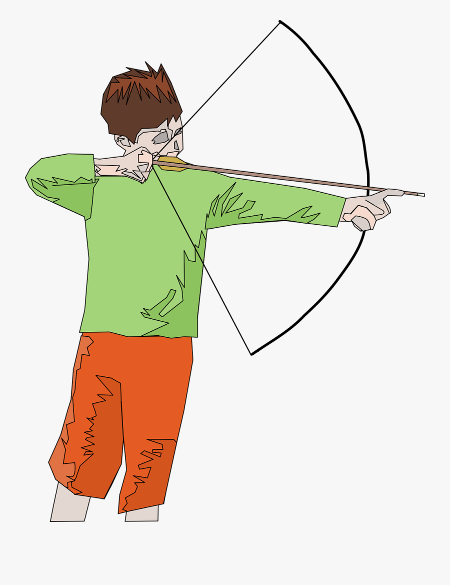 Fashion - Motion Of An Arrow From A Bow, Transparent Clipart