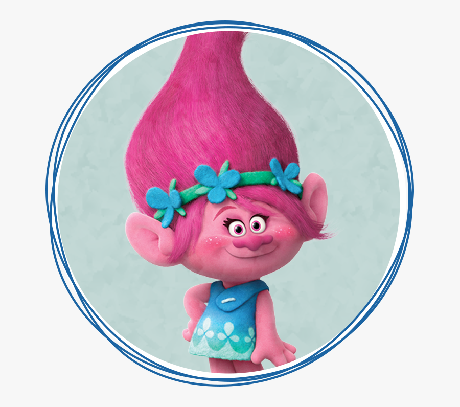 Trolls Characters Png - Princess Poppy, Transparent Clipart