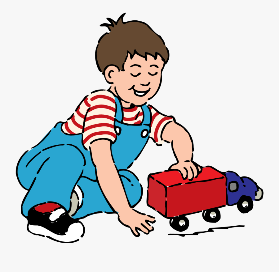 Free To Use Public Domain People Clip Art - Boy Playing With Toys Clipart, Transparent Clipart