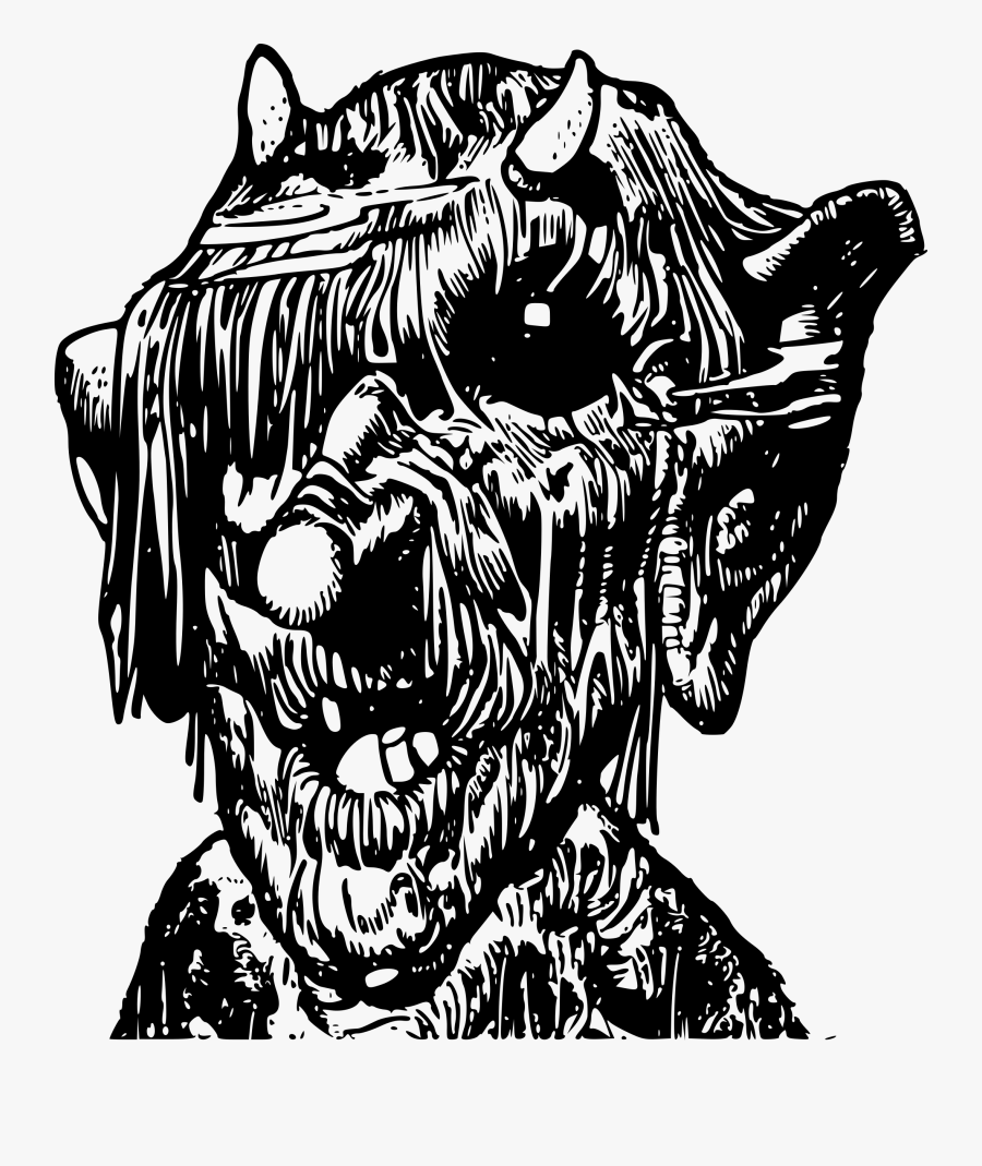 Troll Clipart - Troll Clipart Black And White, Transparent Clipart