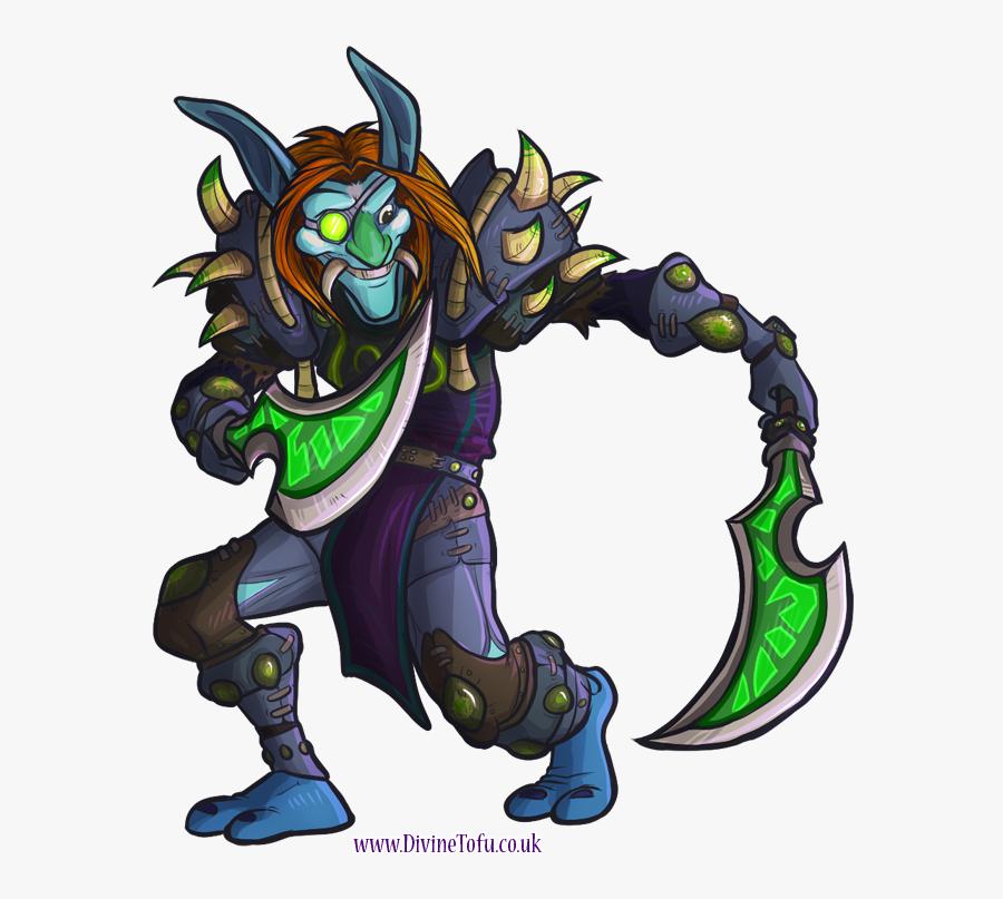 Wow Chibi Troll Rogue By Divinetofu - Wow Troll Rogue, Transparent Clipart