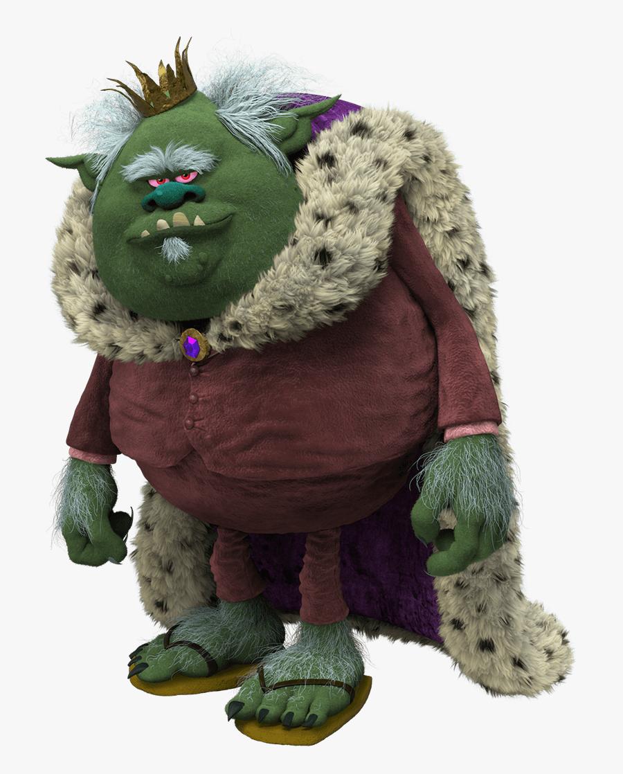 Clip Art King Gristle Sr Villains - Trolls Cast King Gristle, Transparent Clipart