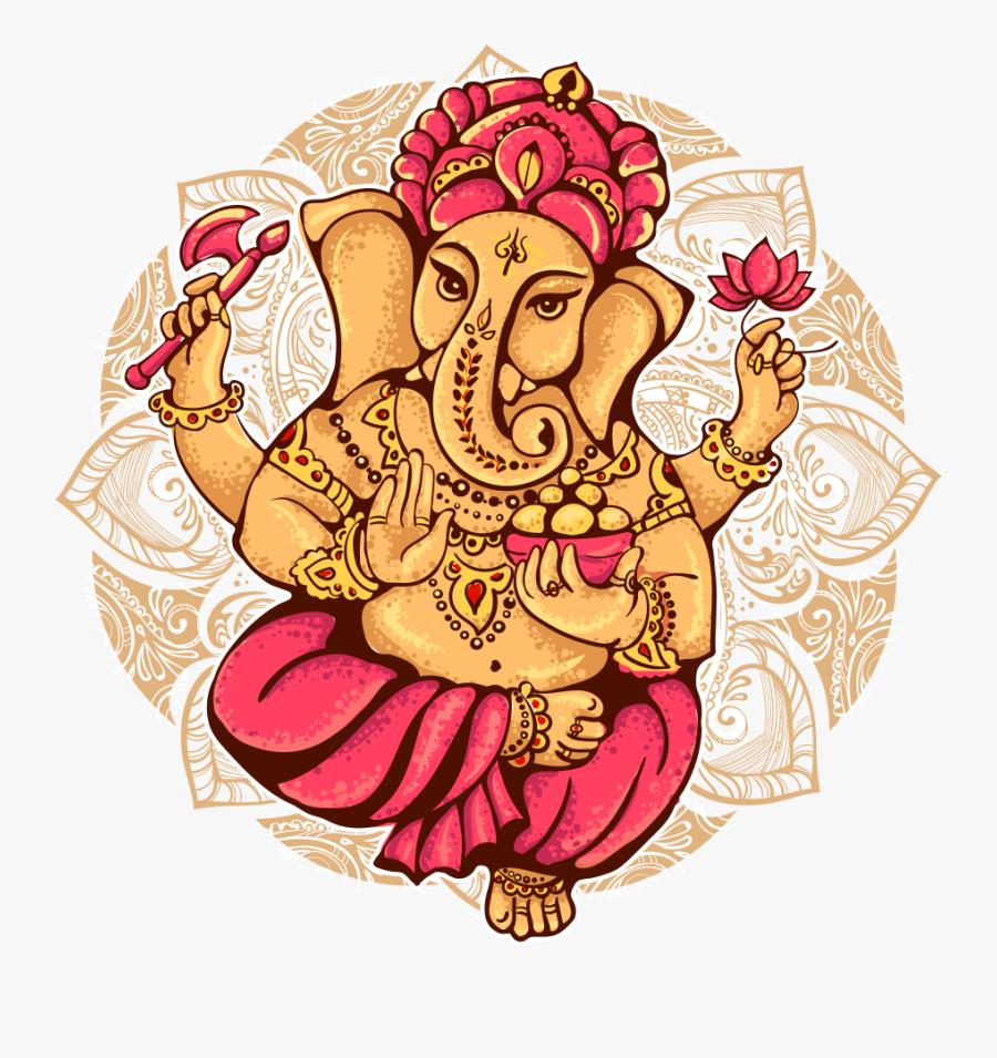 Ganesha Shiva Illustration Cartoon - Lord Ganesh, Transparent Clipart