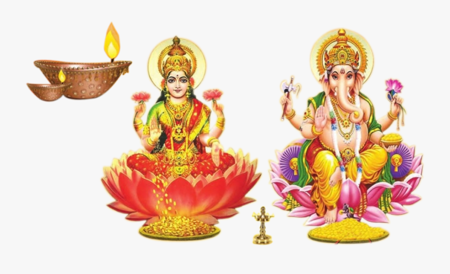 God Laxmi Ganesh Png Image - Laxmi And Ganesh Png, Transparent Clipart