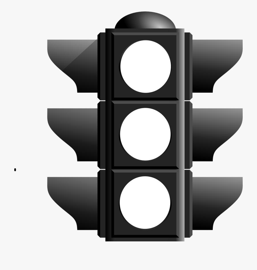 Black And White Traffic Light, Transparent Clipart