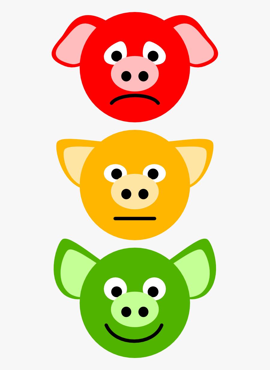 Pig Traffic Lights - Pig Traffic Light, Transparent Clipart