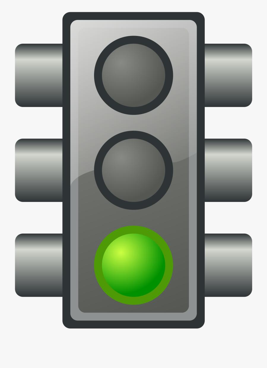 Green Traffic Light - Green Traffic Light Emoji, Transparent Clipart