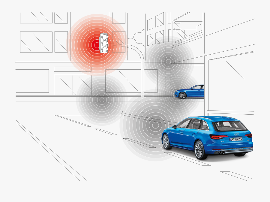 An It Backend Prepares Information On Traffic Light - Audi Rs 2 Avant, Transparent Clipart