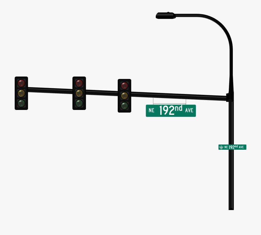 Transparent Stop Light Png - Traffic Light Pole Png, Transparent Clipart