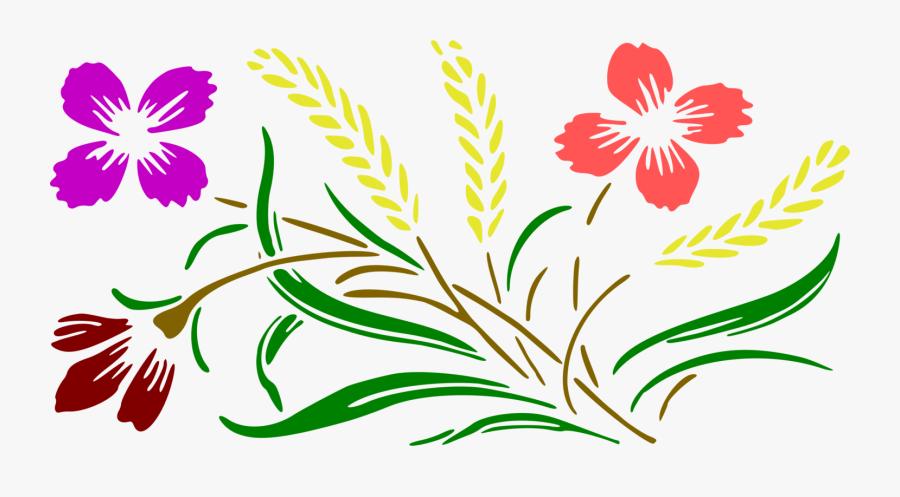 Art,petal,seed Plant - Flower Design With Colour, Transparent Clipart