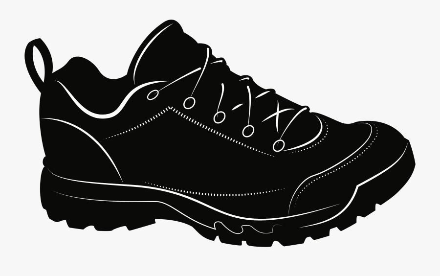Walking Shoe,monochrome Photography,cross Training - Black Sneakers Clipart, Transparent Clipart