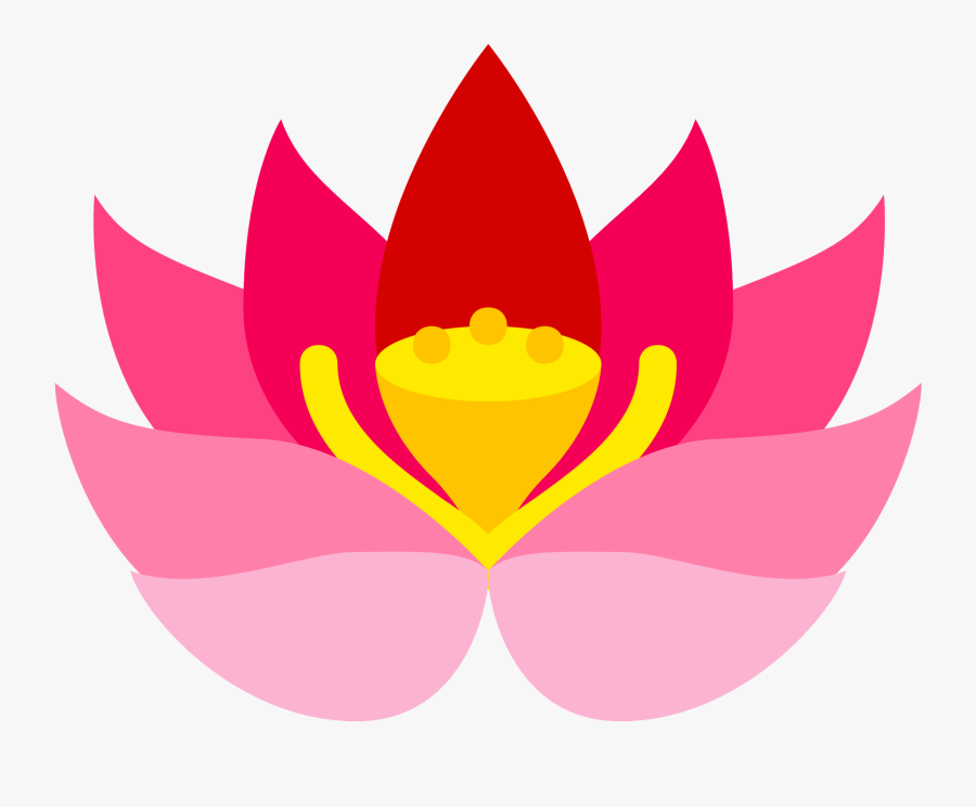 Flower Graphic Png - Lotus Flower Icon Png, Transparent Clipart