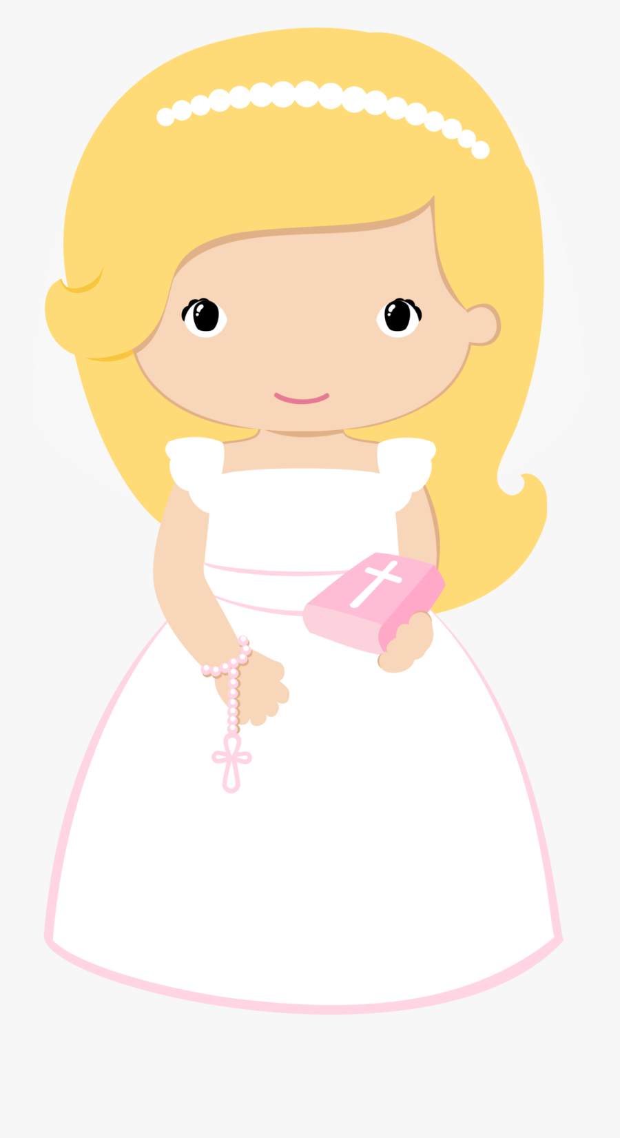 Religious - First Communion Girl Clip Art, Transparent Clipart