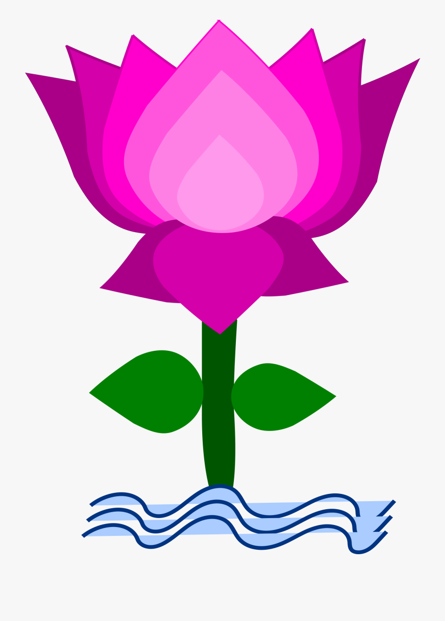 Lotus - Clipart Image Of Lotus, Transparent Clipart