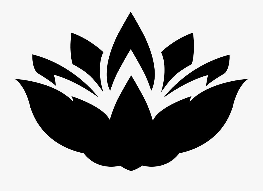 Lotus Flower Silhouette Vector, Transparent Clipart