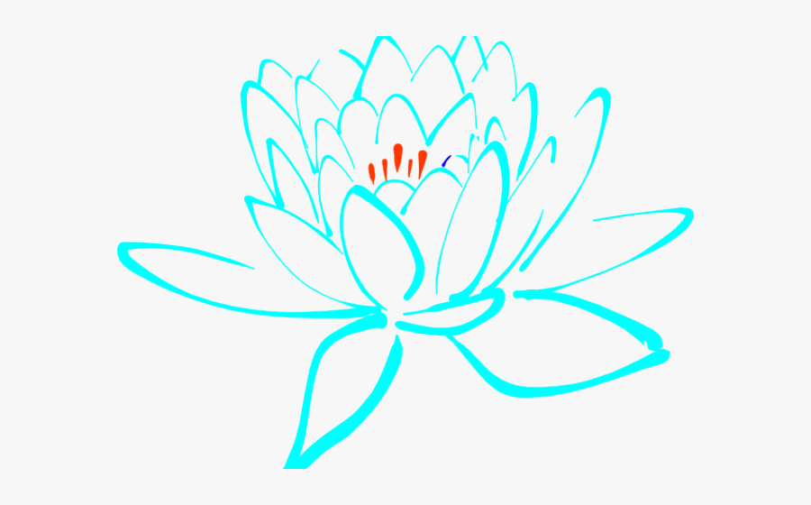 Transparent Lotus Flower Png - Clipart Purple Lotus Flower, Transparent Clipart