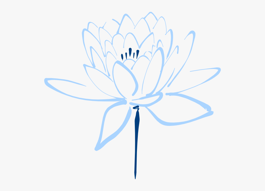 Lotus Clipart Black And White, Transparent Clipart