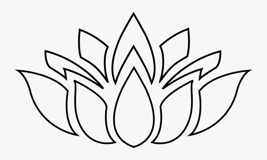 Transparent Lotus Clipart - Lotus Flower Silhouette Png, Transparent Clipart