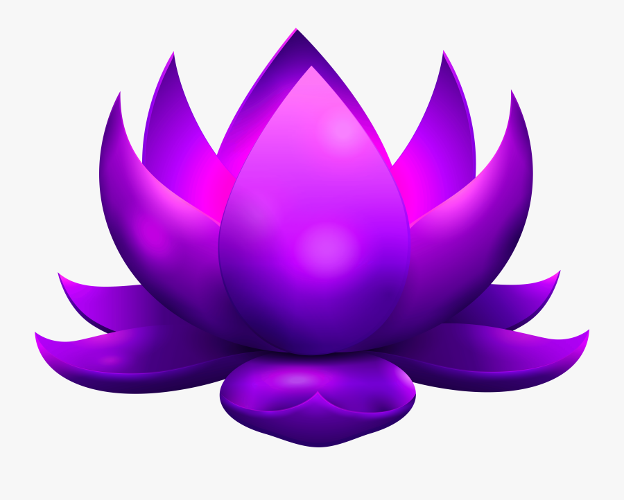 Lotus Flower Clipart At Getdrawings , Png Download - Purple Lotus Flower Png, Transparent Clipart
