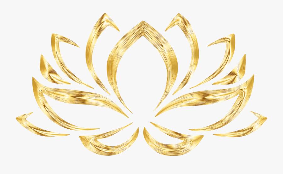Aurumized Lotus Flower No Background Svg Transparent - Transparent Background Lotus Flower Clip Art, Transparent Clipart