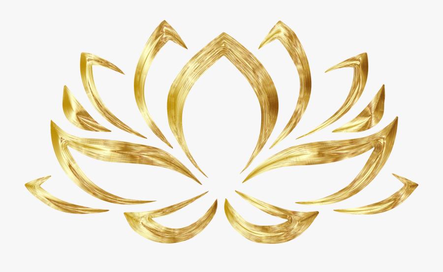 Symmetry,symbol,circle - Gold Lotus Flower Png, Transparent Clipart