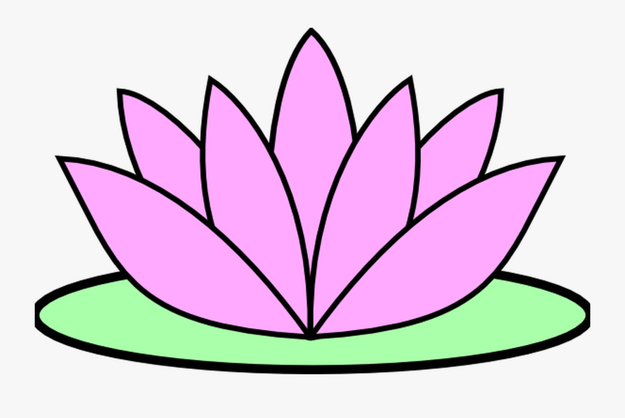Pink Lotus Flower Clip Art At Clkercom Vector Clip - Lotus Flower Drawing Simple, Transparent Clipart