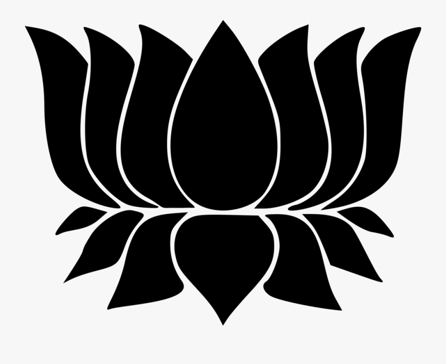 Lotus Flower Silhouette Icon - Hindu Symbols Lotus Flower, Transparent Clipart