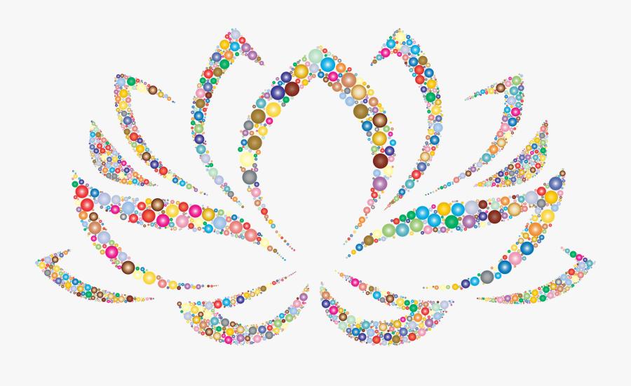 Colorful Lotus Flower Circles 2 Clip Arts - Blue Lotus Flower Clipart, Transparent Clipart