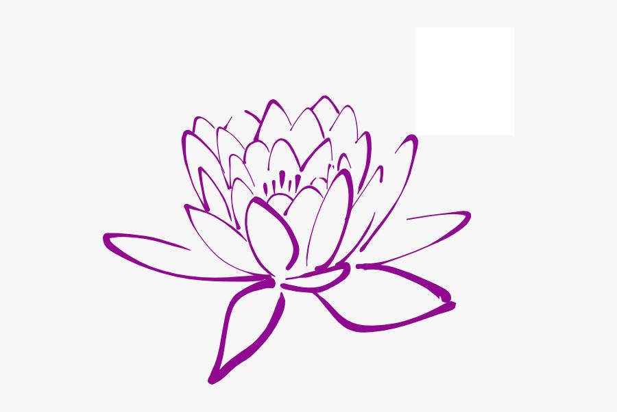 Magnolia Flower Clip Art - Lotus Flower Drawing Png, Transparent Clipart