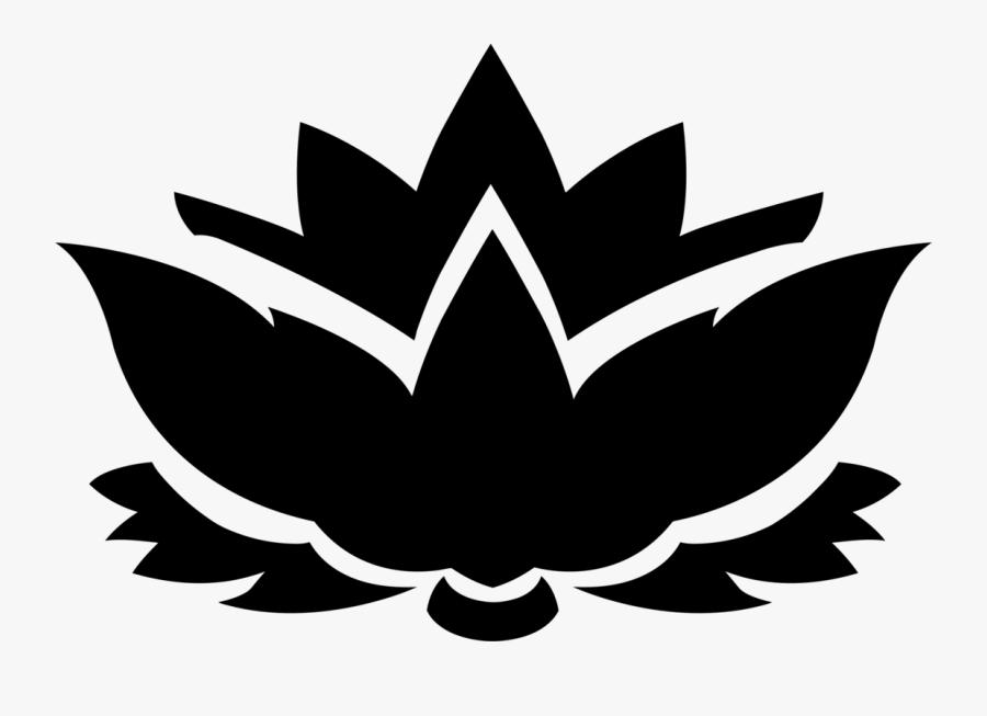 Plant,flower,leaf - Clipart Lotus Flower Black And White, Transparent Clipart