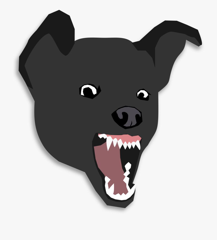 Bulldog Pit Bull Dalmatian Dog Fila Brasileiro Clip - Angry Dog Face Png, Transparent Clipart