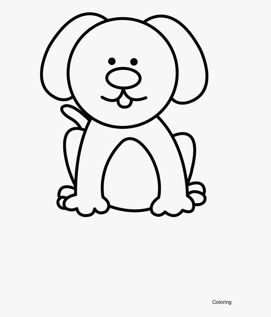 Transparent Pitbull Clipart - Small Dog Drawing Easy, Transparent Clipart