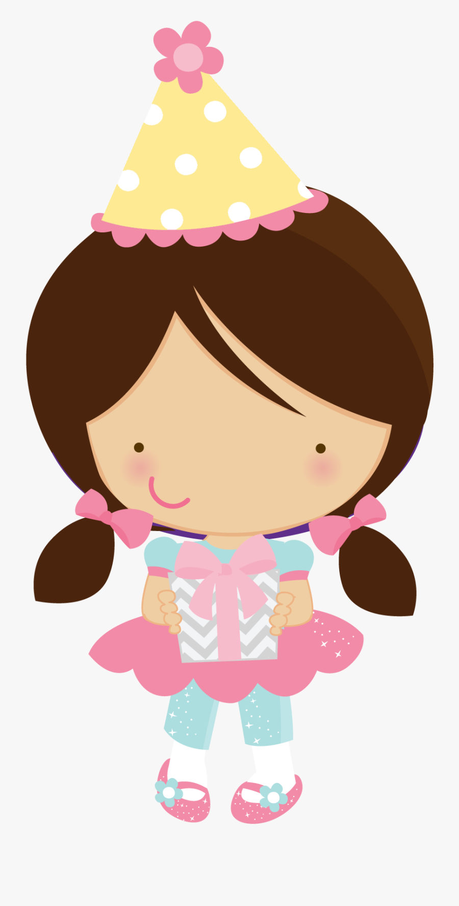 Girl Birthday Party Clipart, Transparent Clipart