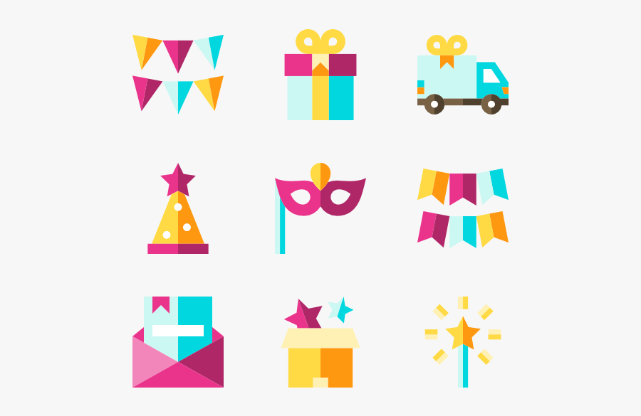 Gift Icons Free Vector - Yellow Birthday Icon Png, Transparent Clipart