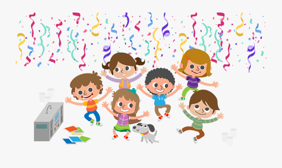 Disco Clipart Childrens Birthday Party - Children's Party Png, Transparent Clipart