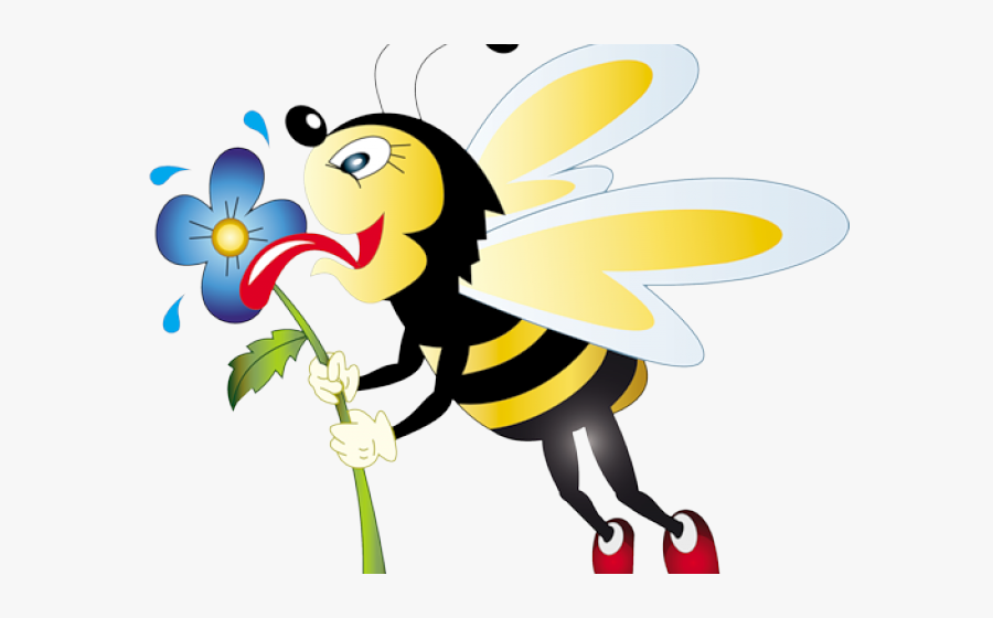 Honey Bee Funny Clipart , Png Download - Honey Bee Bee Clipart Transparent Background, Transparent Clipart