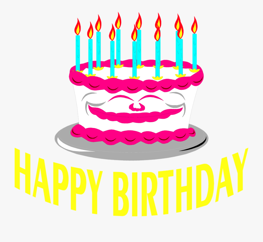 Cake Birthday - Birthday Cake Png Text, Transparent Clipart