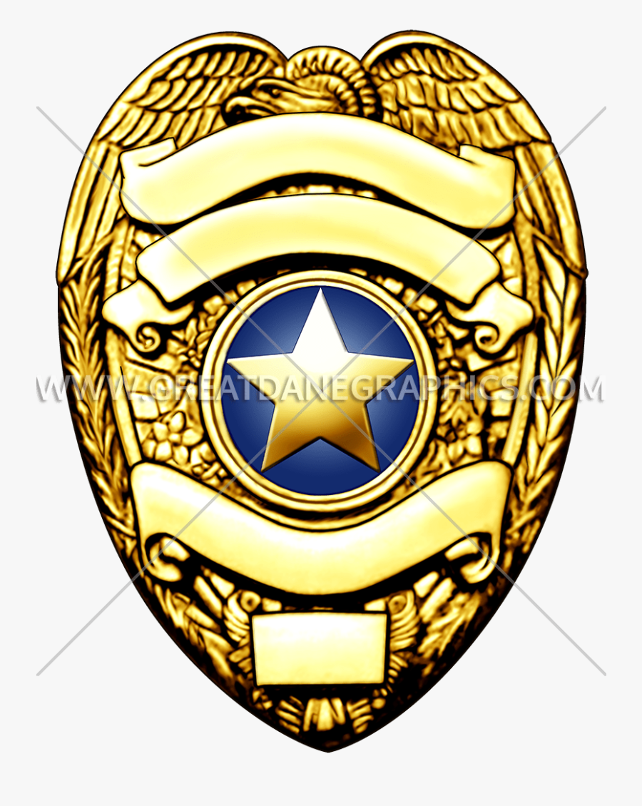 Gold Clipart Police Badge - Gold Police Badge Clipart, Transparent Clipart