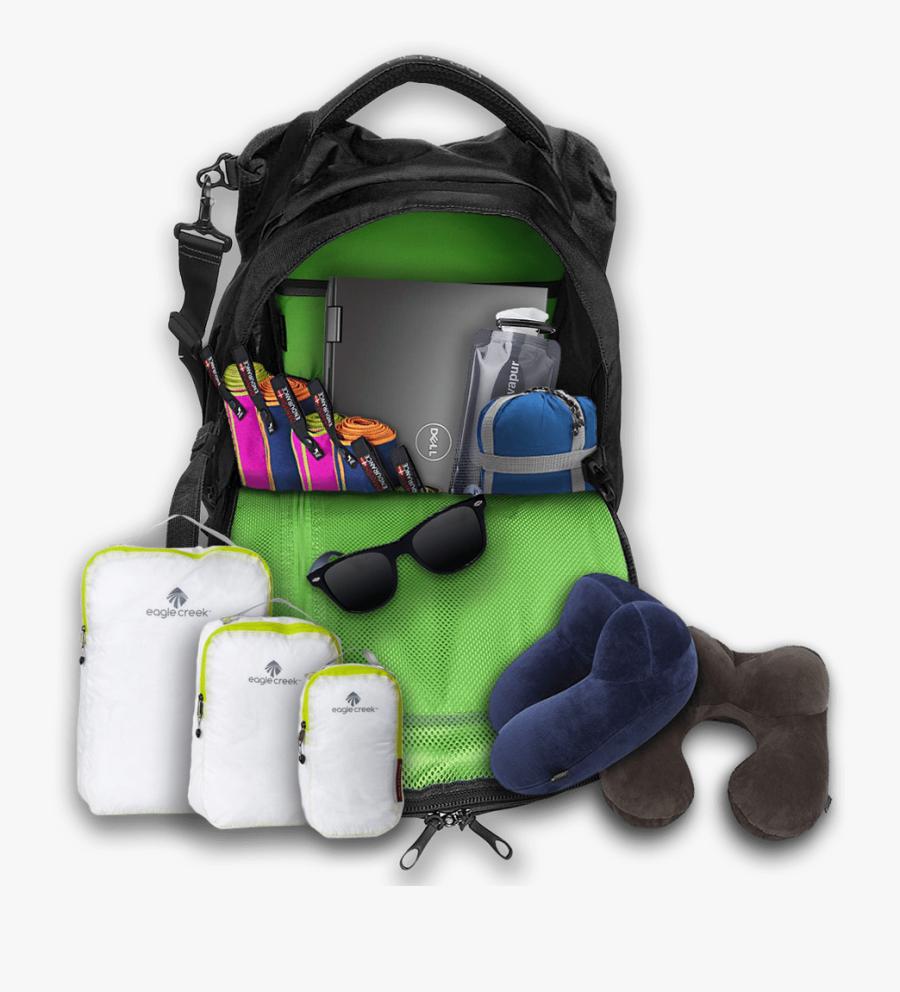 Clipart Backpack Sleeping Bag - Furniture, Transparent Clipart