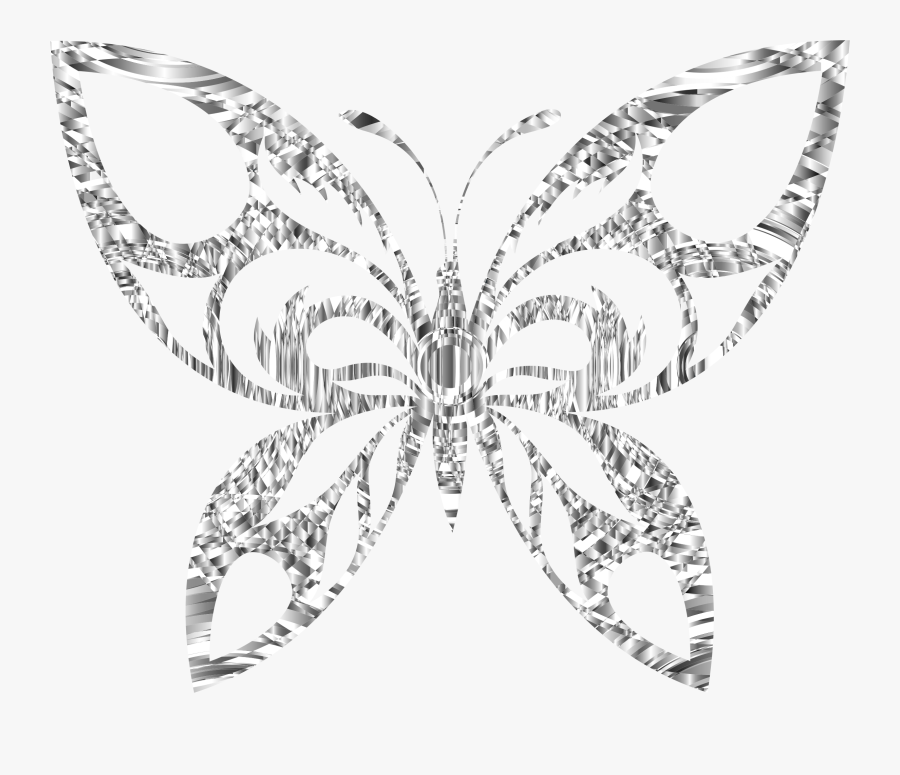 Jewellery,monochrome Photography,body Jewelry - Clip Art Butterfly Silver, Transparent Clipart