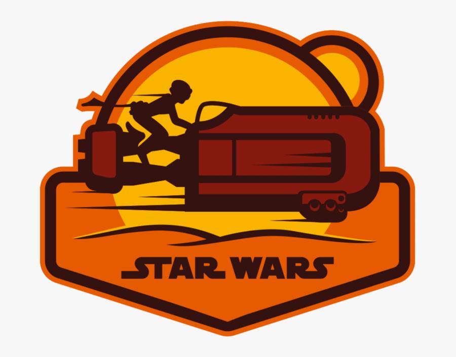 Rey Star Wars Patch, Transparent Clipart