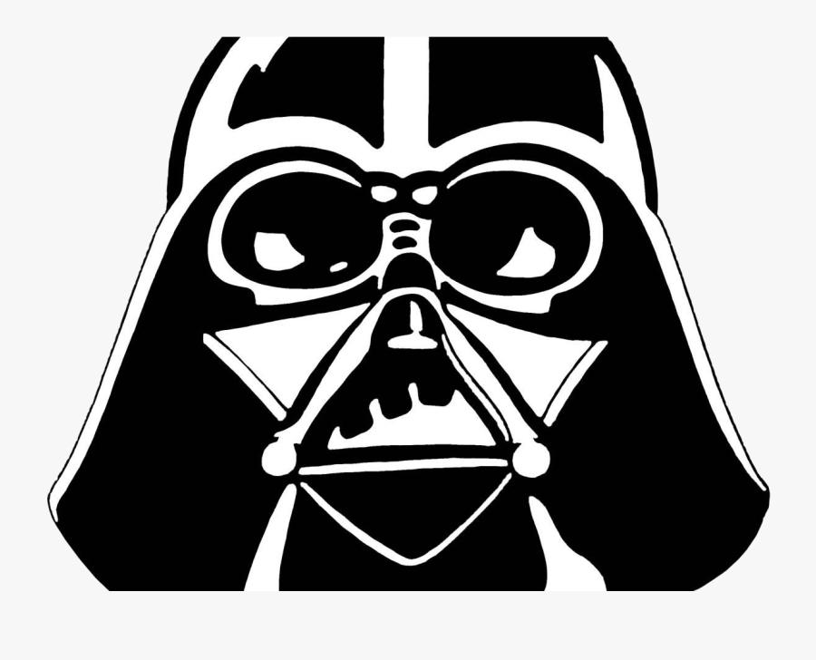 Chewbacca Black And White Clipart Star Wars Tattoo - Tete Dark Vador Dessin, Transparent Clipart